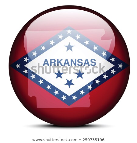 Map on flag button of USA Arkansas State Stock photo © Istanbul2009