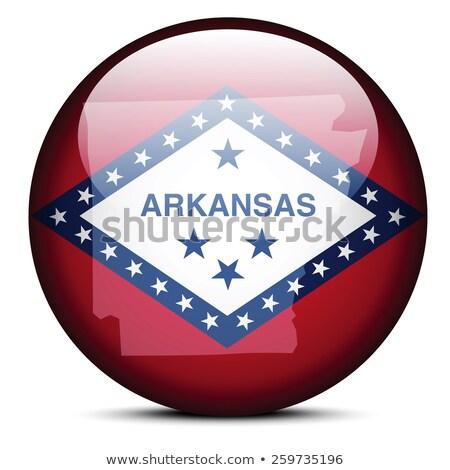 harita · Arkansas · yeşil · model · Amerika · kare - stok fotoğraf © istanbul2009