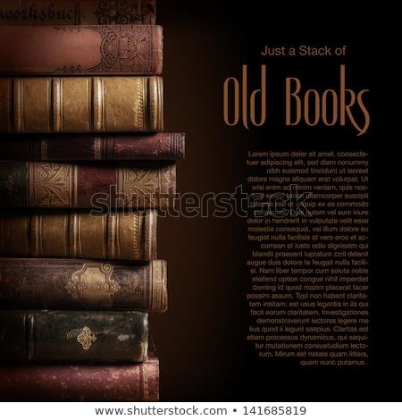 stack of used old books stock photo © stevanovicigor