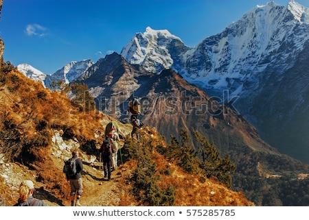 Stock photo: Trekking in Nepal