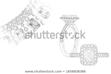 Hand on gem stone jewellery ring Stock photo © nalinratphi