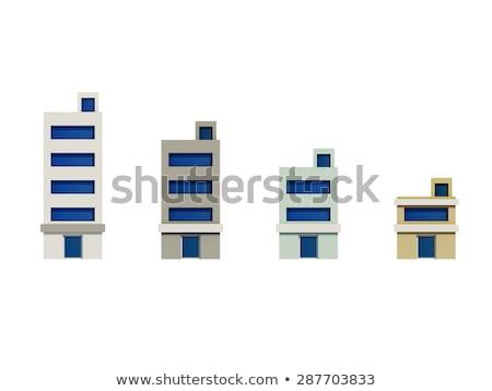 ingesteld · geven · gebouwen · kantoor · gebouw · stad - stockfoto © teerawit