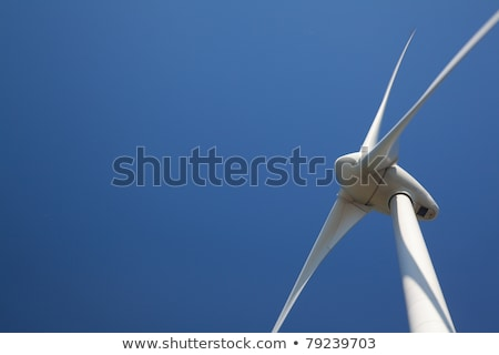 Close up of wind turbine producing alternative energy Stock photo © Kirill_M