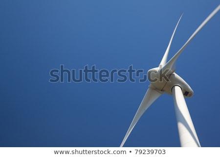 moderno · turbina · eólica · isolado · branco · poder · vento - foto stock © kirill_m
