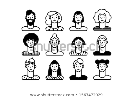 Set of various people icons. Different faces of people for avata Stock photo © feabornset