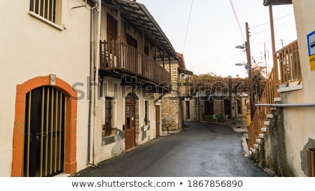 Street in the traditional Cypriot village Lofu. Limassol District, Cyprus Stock photo © Kirill_M