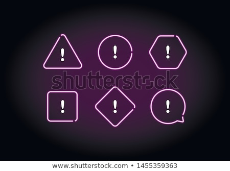 Warning Sign Violet Vector Button Icon Design Set Stock photo © rizwanali3d