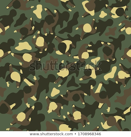 Woman in camouflage. Stock photo © iofoto