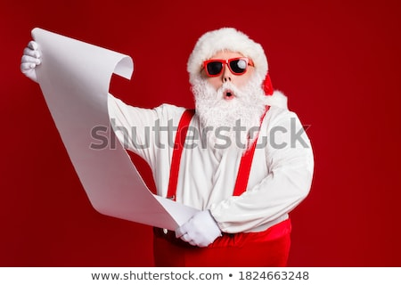 список Дед Мороз письме знак Hat Сток-фото © anacubo