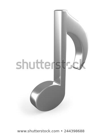 Zene jegyzet felirat izolált fehér diák Stock fotó © lenapix