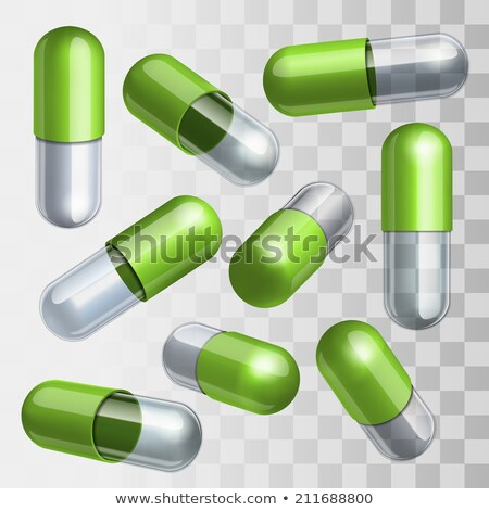vector set of colorful pills stock photo © elisanth