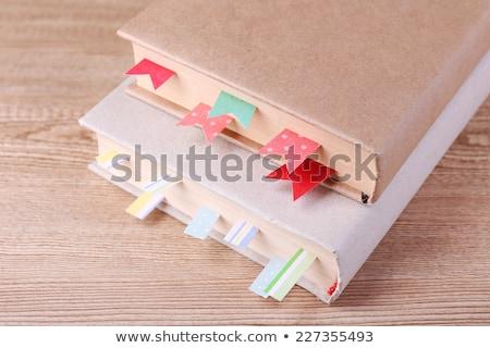 Kapalı kahverengi kitap imi örnek vektör Stok fotoğraf © orensila
