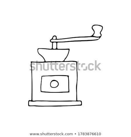Garabato café molino dibujado a mano ilustración excelente Foto stock © netkov1