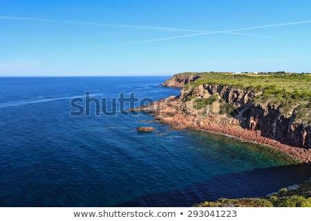 Szirt sziklák sziget égbolt víz tenger Stock fotó © Antonio-S