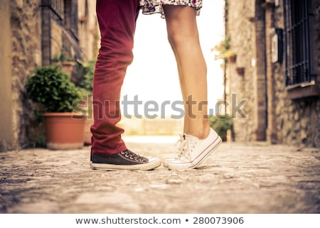 tiptoe love Stock photo © bezikus