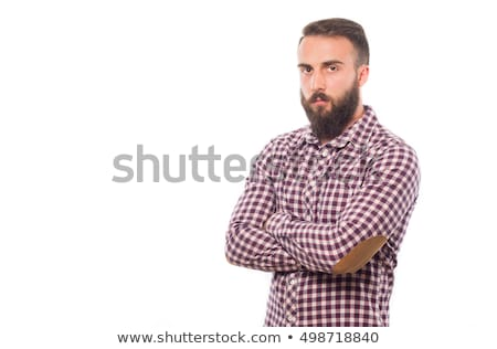 handsome man upset with his arms crossed Stock photo © alexandrenunes