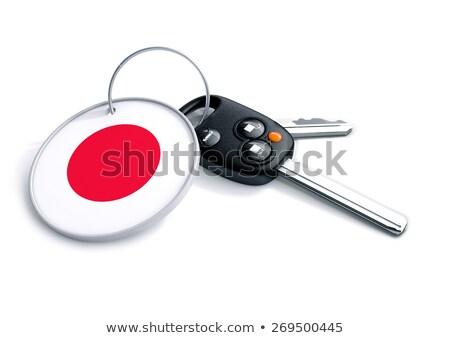 Car keys with keyring and currency symbol stock photo © crashtackle