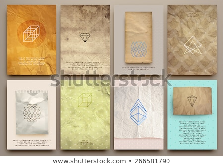 Vintage Styles brochure templates set with Labels. Stock photo © DavidArts