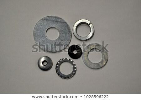 Stock fotó: Metal Screw Plain Washers
