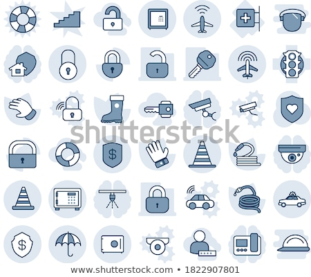 unlock blue vector icon design stock photo © rizwanali3d