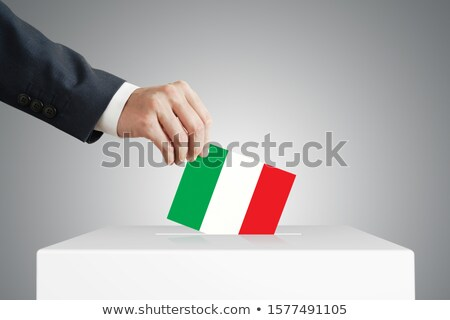 Man stemmen vak Italië partij Stockfoto © Zerbor