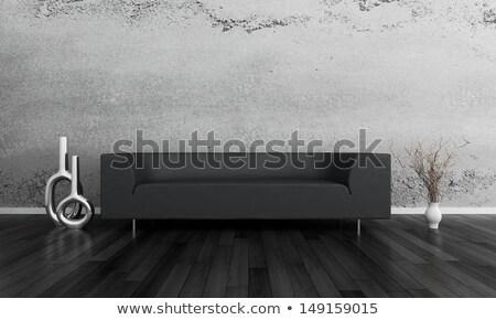 kanapé · párnák · kényelmes · otthon · nappali · kényelem - stock fotó © lunamarina