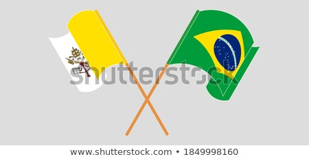 Brazylia święty zobaczyć Watykan flagi puzzle Zdjęcia stock © Istanbul2009