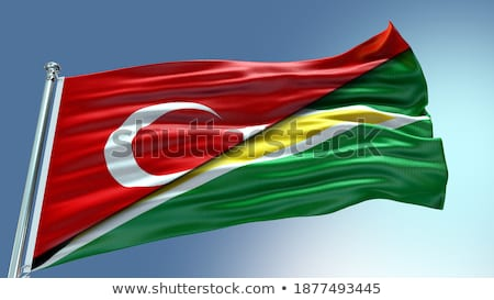 Turkey and Guyana Flags Stock photo © Istanbul2009
