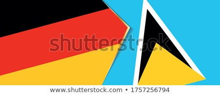 Germany and Saint Lucia Flags Stock photo © Istanbul2009