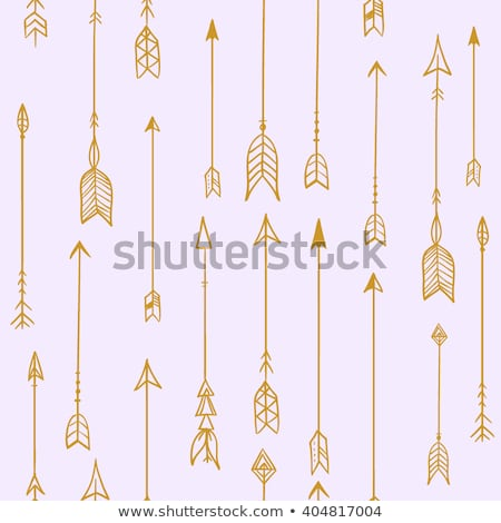 Bow and arrow indian boho seamless pattern hipster Stock photo © cienpies