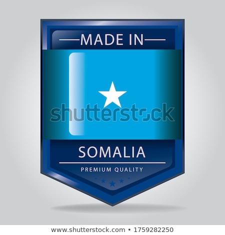 Somali kraju banderą Pokaż tekst Zdjęcia stock © tony4urban