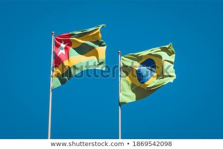 Бразилия Того флагами головоломки изолированный белый Сток-фото © Istanbul2009