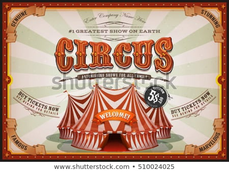 horizontal poster sunbeams red circus stock photo © tintin75