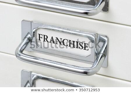 cajón · etiqueta · comercialización · oficina · metal - foto stock © zerbor