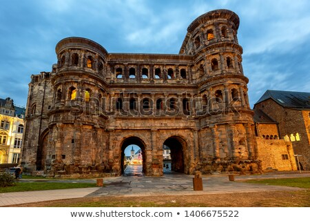 The Porta Nigra (Black Gate) in Trier city, Germany. UNESCO World Heritage Site Stock photo © amok