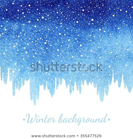 winter · aquarel · abstract · vallen · sneeuw · splash - stockfoto © rommeo79