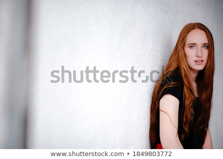 молодые черный долго платье изолированный Сток-фото © Elnur