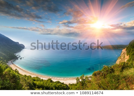 Jaz beach in morning. Budva, Montenegro Stock photo © vlad_star
