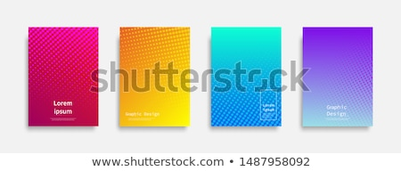Illustration of a blank book with blue circle background Stock photo © gigra