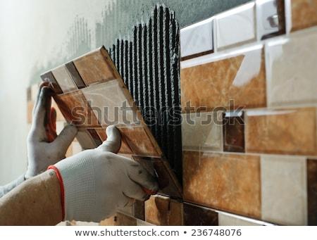 ceramic tiles and tools stock photo © oleksandro