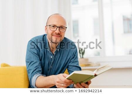 genç · iş · adamı · gözlük · oturma - stok fotoğraf © feedough