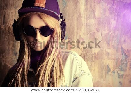привлекательный панк девушки изолированный белый моде Сток-фото © Elisanth