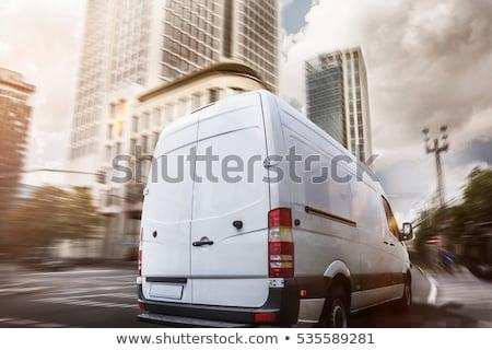 Commercial delivery truck Stock photo © RAStudio