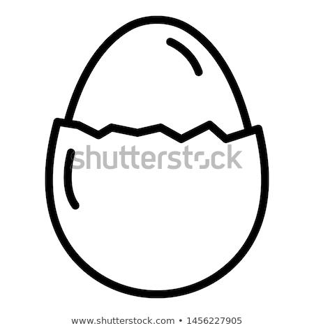 ストックフォト: 卵 · 行 · アイコン · コーナー · ウェブ · 携帯
