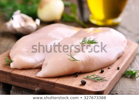 Brut poitrine de poulet blanche plaque alimentaire viande Photo stock © Digifoodstock
