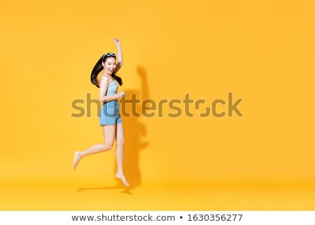 longues · jambes · maigre · cuir · pants - photo stock © runzelkorn