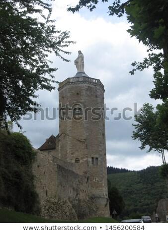 Turné Franciaország tavasz zöld kastély kő Stock fotó © LianeM