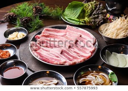 ot · domuz · eti · göbek · çili · sos · kırmızı - stok fotoğraf © digifoodstock