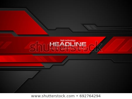 Abstract contrast black red tech background Stock photo © saicle