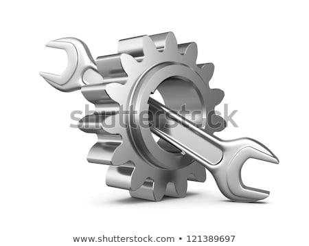 エンジニアリング · アイコン · ギア · レンチ · サービス · シンボル - ストックフォト © djdarkflower